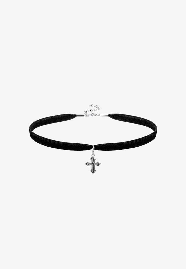 CHOKER SET - Collana - silver-coloured/black