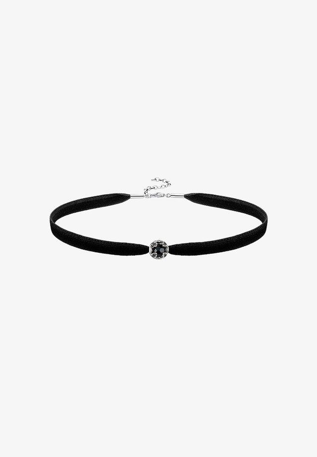 CHOKER SET - Necklace - silver-coloured/black