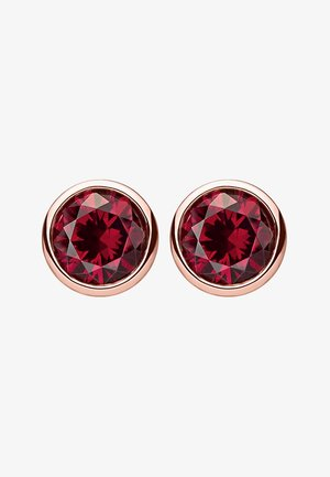 Earrings - rosegold-coloured/red