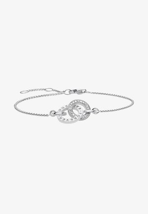 TOGETHER FOREVER - Armband - silver-coloured/white