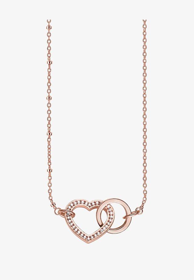 TOGETHER FOREVER HERZ - Necklace - rosegold coloured,white