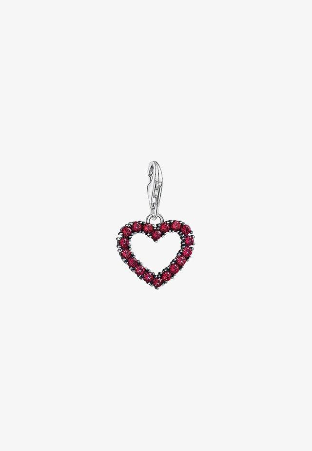 HERZ  - Hanger - silver-coloured/red