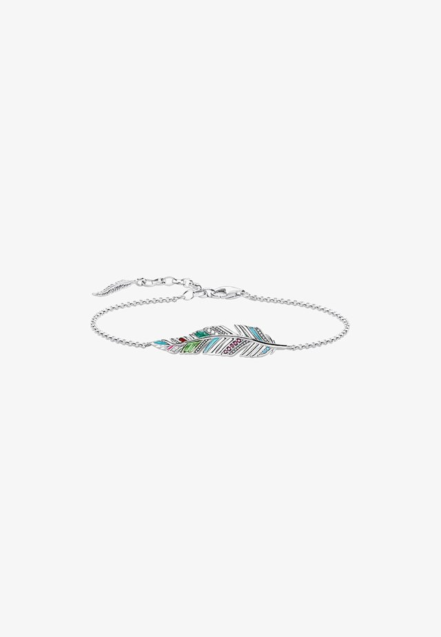Armband - silver coloured,white, red, turquoise, green