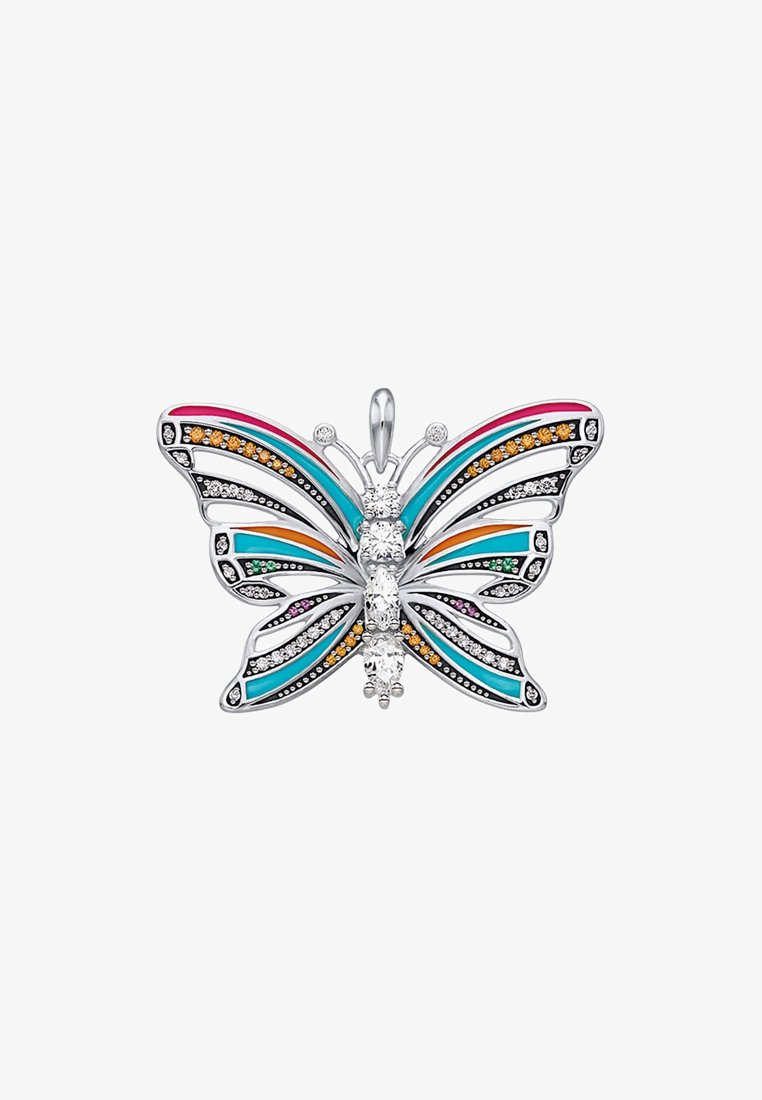 THOMAS SABO - SCHMETTERLING - Anhänger - silver coloured, white, turquoise, orange, pink