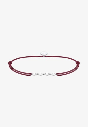 Armband - silver-coloured/red