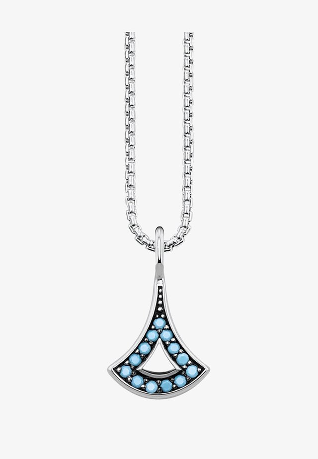 ASIATISCHE ORNAMENTE  - Necklace - silver-coloured/turquoise