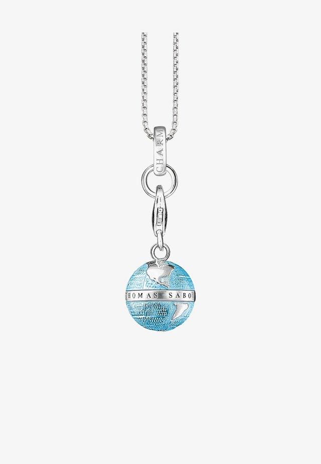 WELTKUGEL - Halsband - silver-coloured/white