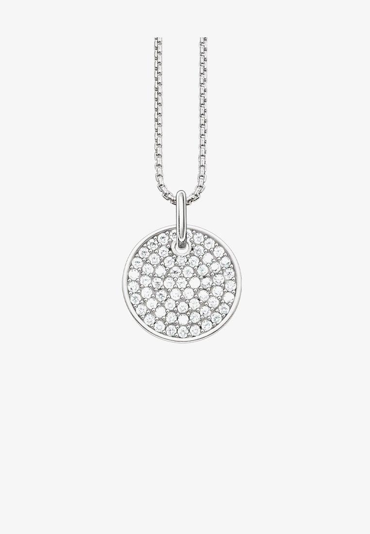THOMAS SABO - SPARKLING CIRCLES COIN - Necklace - silver-colourd/white