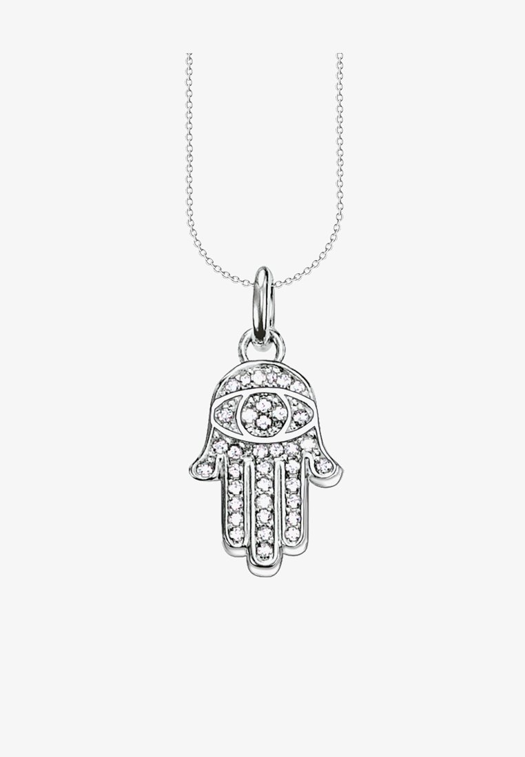 THOMAS SABO - ETHNO TRAUMFÄNGER - Necklace - silver-coloured/white