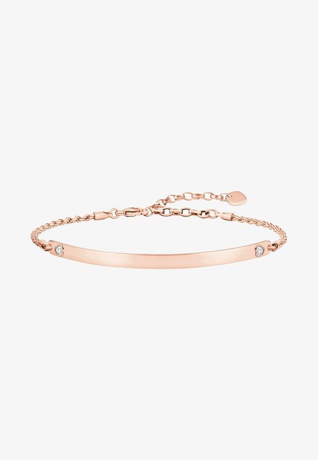HERZ - Armband - couleur or rose, blanc