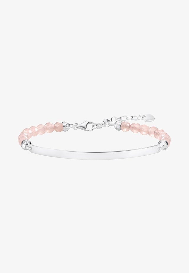 Armband - silver-coloured/pink