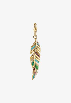 ETHNO FEDER  - Pendant - gold-coloured,red,turquoise,green,pink