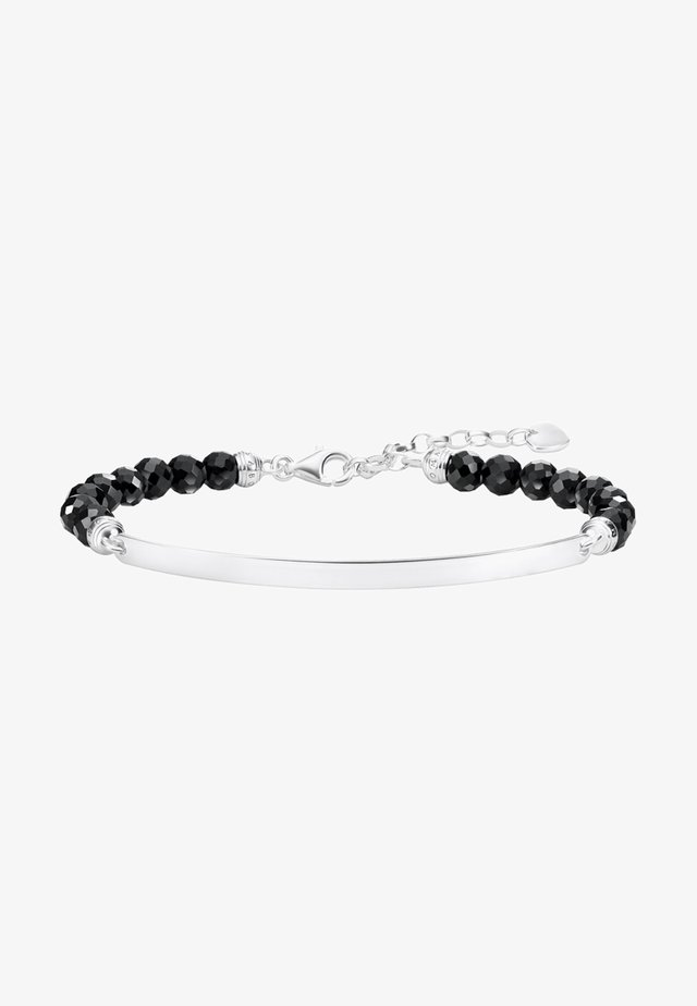 SCHWARZ  - Bracciale - silver-coloured,black