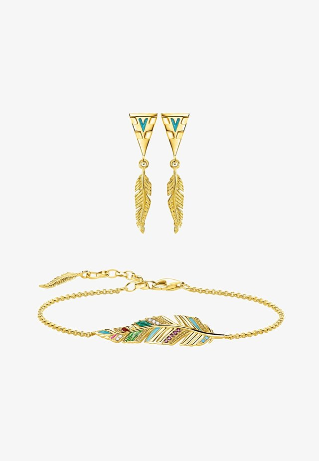 Ohrringe - gold-coloured, turqoise, white, red, green
