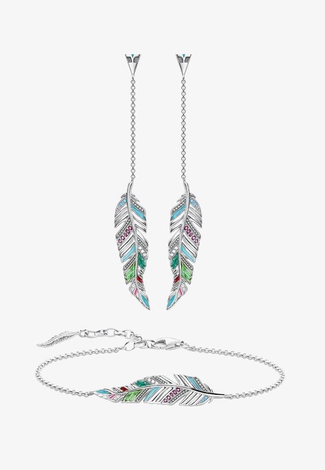 Ohrringe - silver-coloured, white, red, turqoise, green