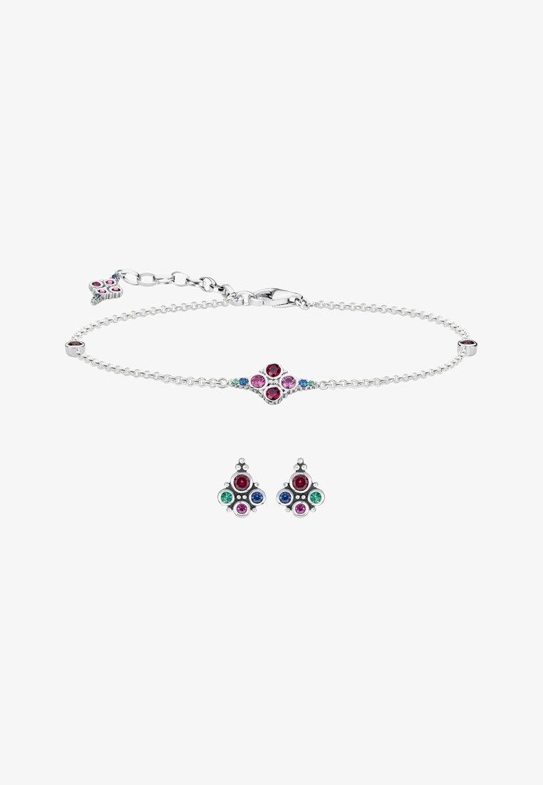 THOMAS SABO - Bracelet - silver-coloured, black, red, green, dark blue