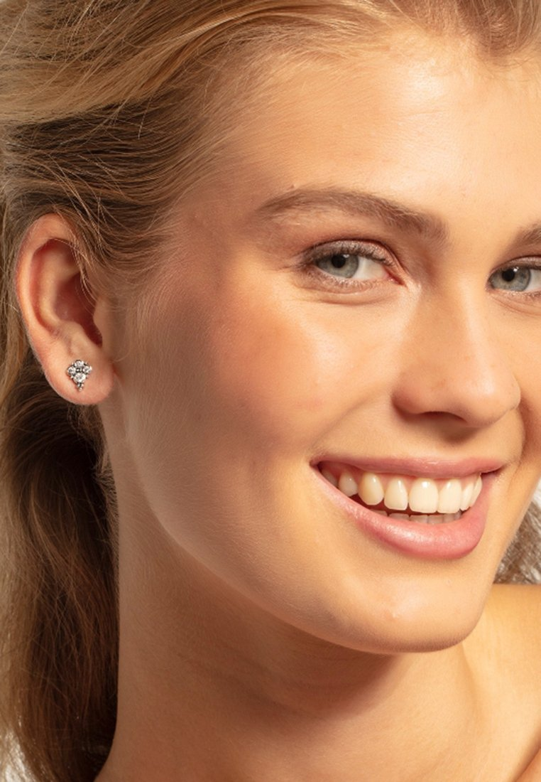 THOMAS SABO - OHRSTECKER  - Earrings - silberfarben, weiß