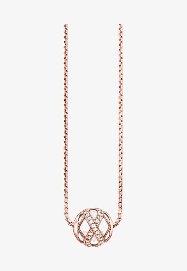 Necklace - rose/white