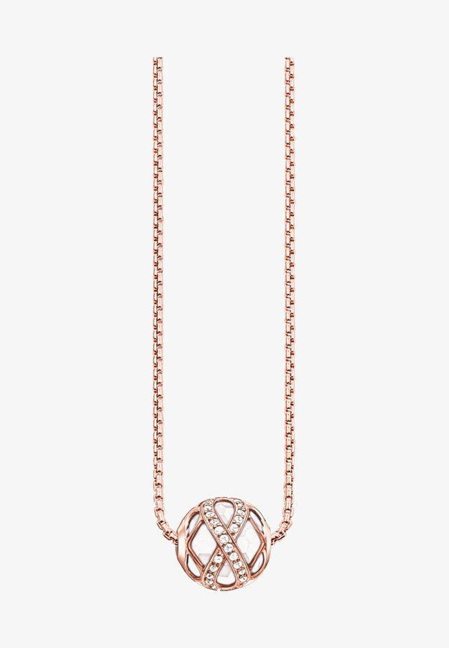 Halsband - rose/white