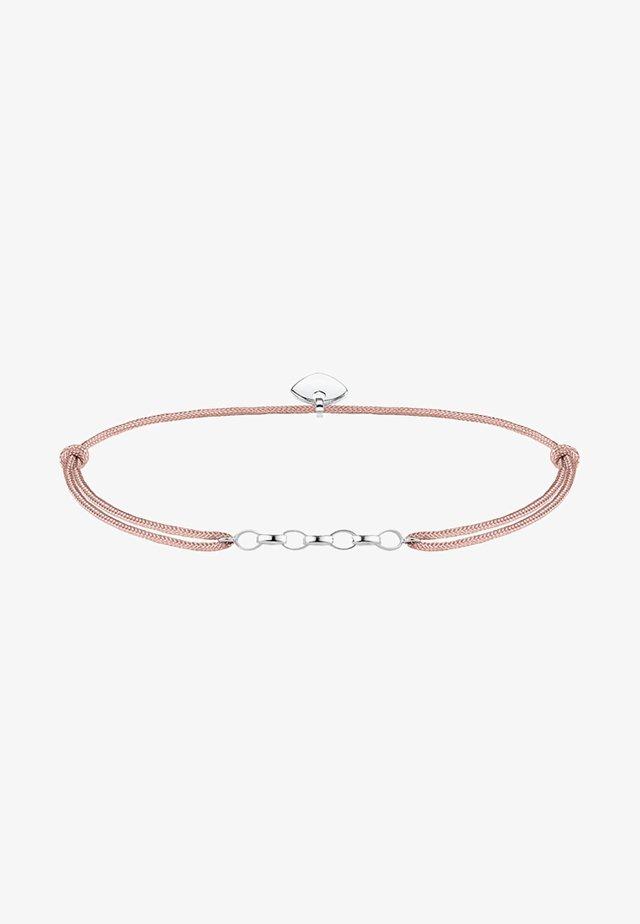 LITTLE SECRET  - Armband - silver-coloured/beige