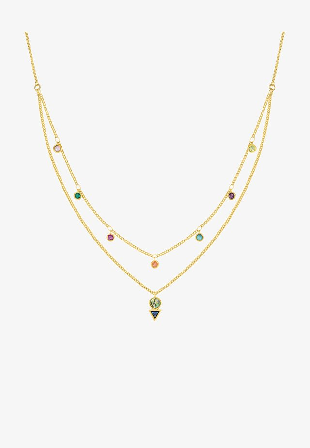 Necklace - orange/purple/pink/blue/turquoise