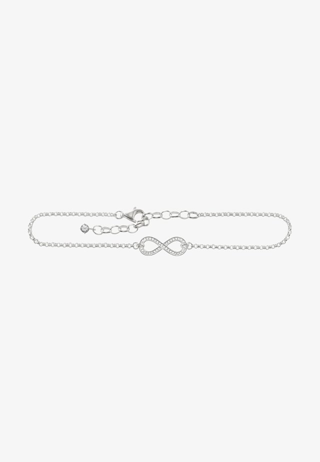 FUSSKETTE INFINITY - Armband - silver