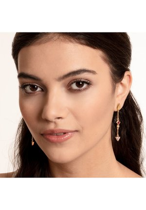 Earrings - yellow gold/red/pink/yellow