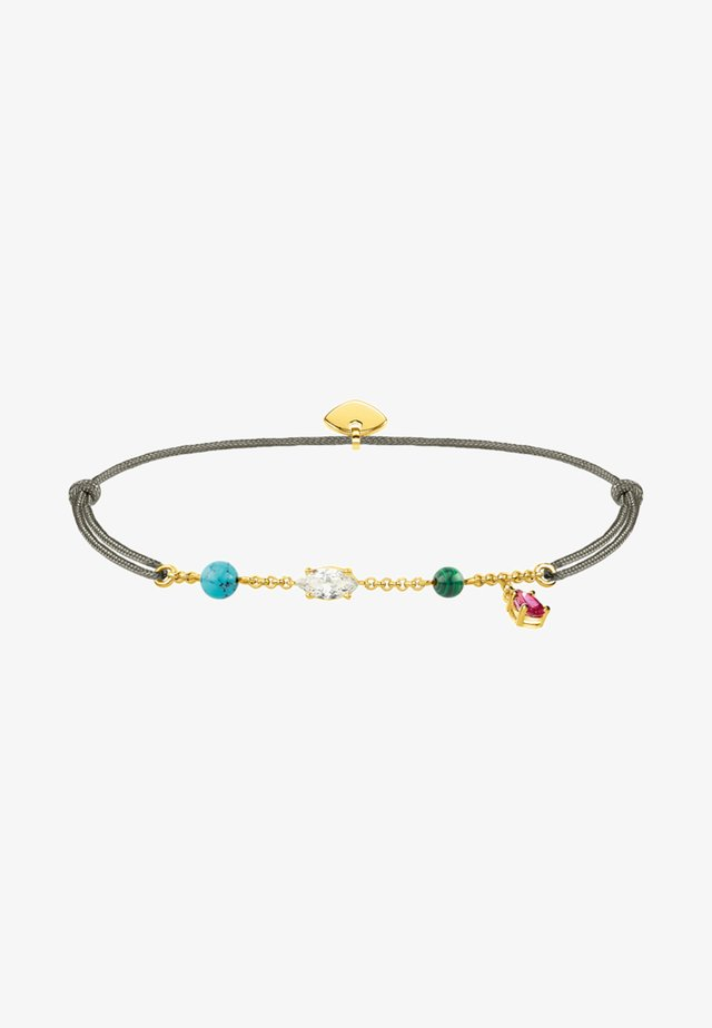 LITTLE SECRET  - Armband - grau/gold/bunt