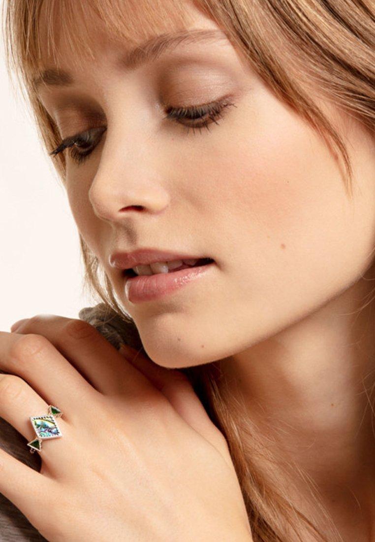 THOMAS SABO - ZICK ZACK ABALONE PERLMUTT - Ring - silver/green/purple