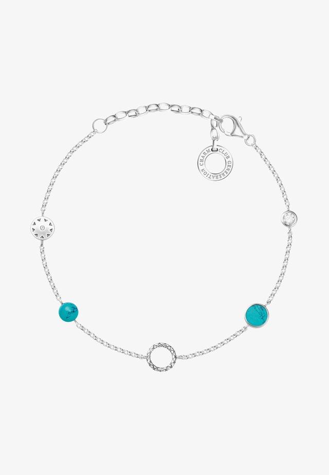 Armband - silvery/white/turquoise
