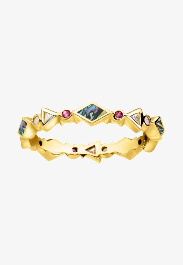 Ring - yellow gold/red/pink/white/turquoise