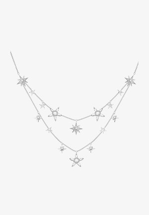 Necklace - white/silver-coloured