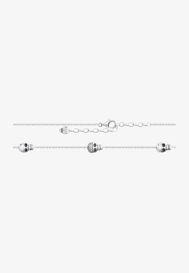 FUSSKETTE TOTENKÖPFE  - Armband - silver-coloured