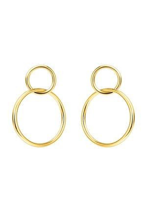 OHRRINGE 925 STERLINGSILBER, 750 GELBGOLD VERGOLDUNG - Earrings - gelbgoldfarben