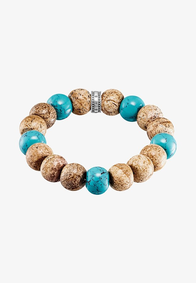 POWER AFRIKA - Bracciale - beige/brown/turquoise