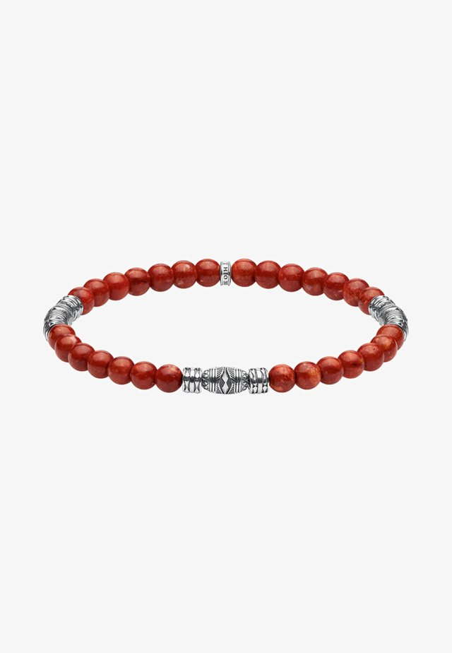 TALISMAN  - Armband - red/silver-coloured