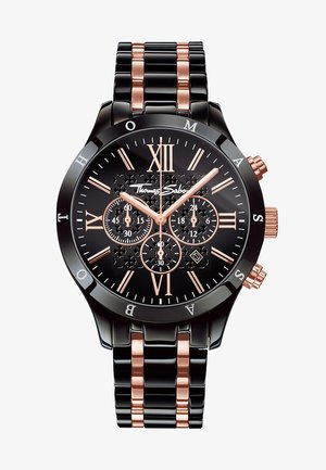 REBEL URBAN - Chronograph - rosegold-colored/black