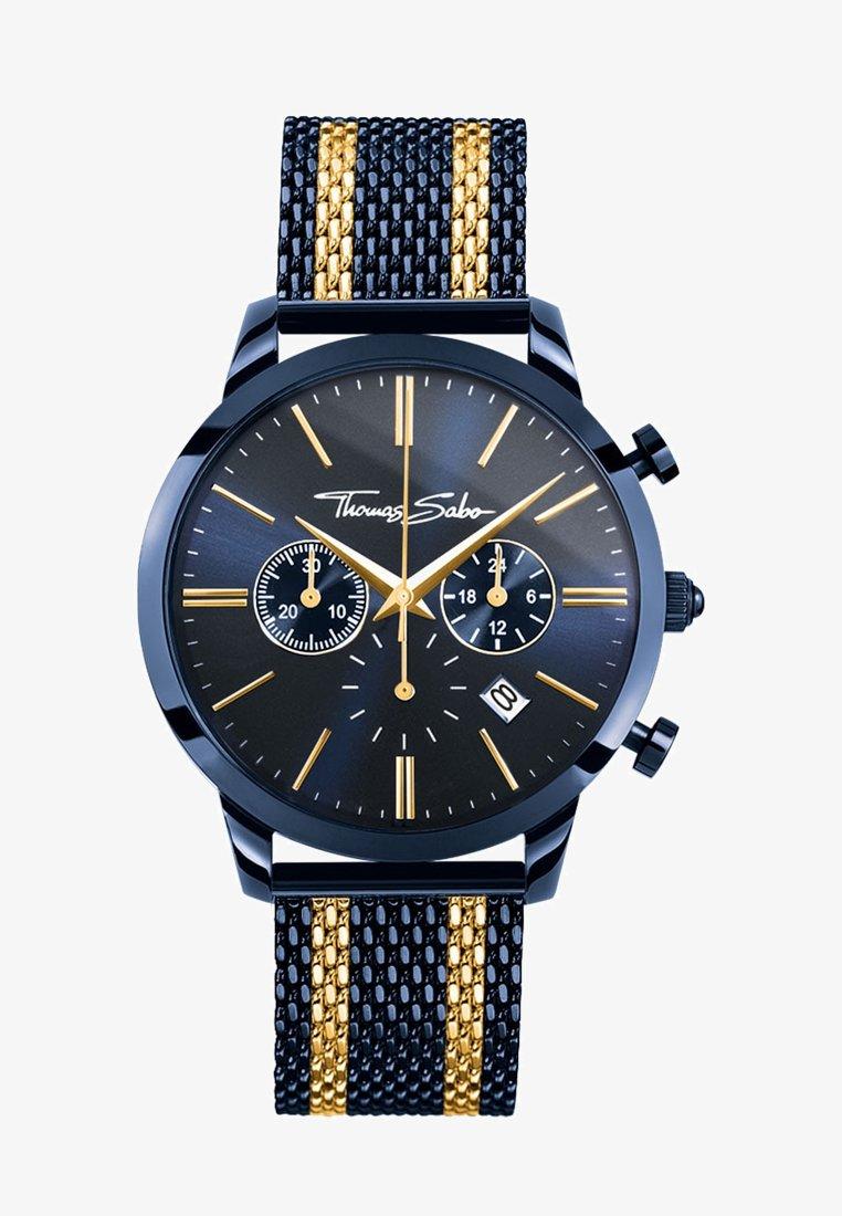 THOMAS SABO - REBEL SPIRIT CHRONO - Uhr - gold-coloured/blue