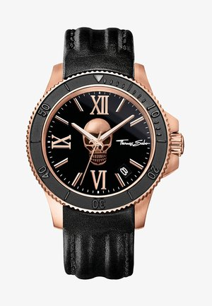 REBEL ICON - Watch - rosegold-coloured/black