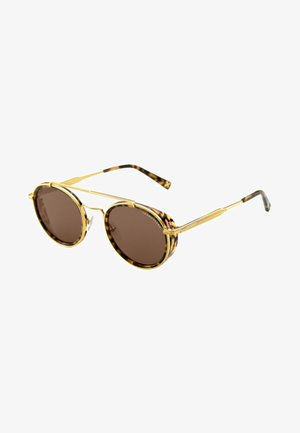 Sonnenbrille - yellow gold shiny/havana brown shiny