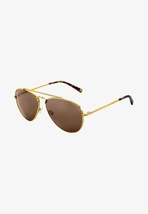 Solbriller - yellow gold-shiny/havana brown-shiny