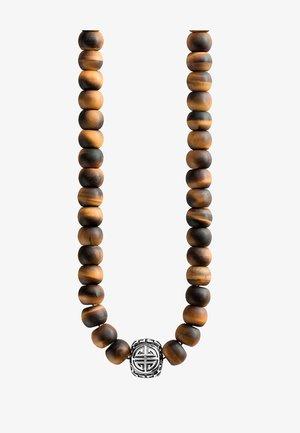 Halskette - silver-coloured/braun