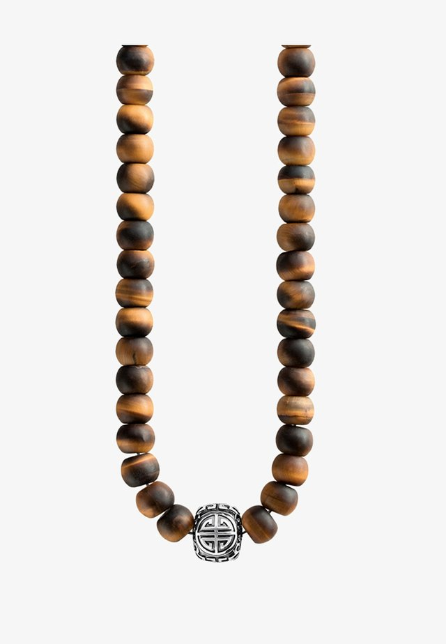 Necklace - silver-coloured/braun