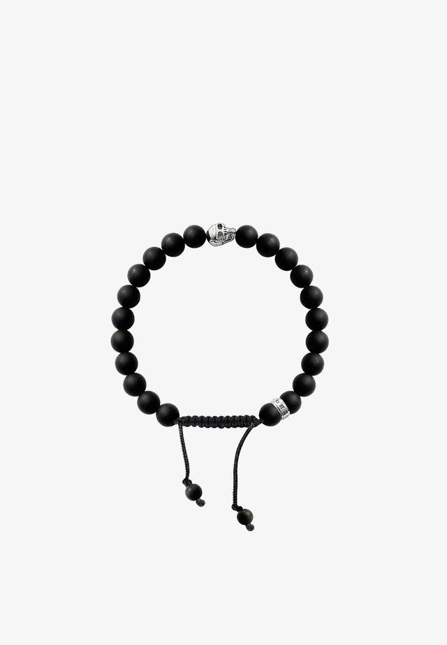 Bracelet - silver-coloured/black