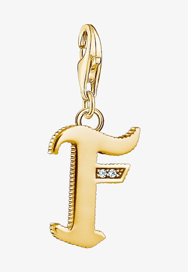BUCHSTABE F  - Pendant - gold-coloured