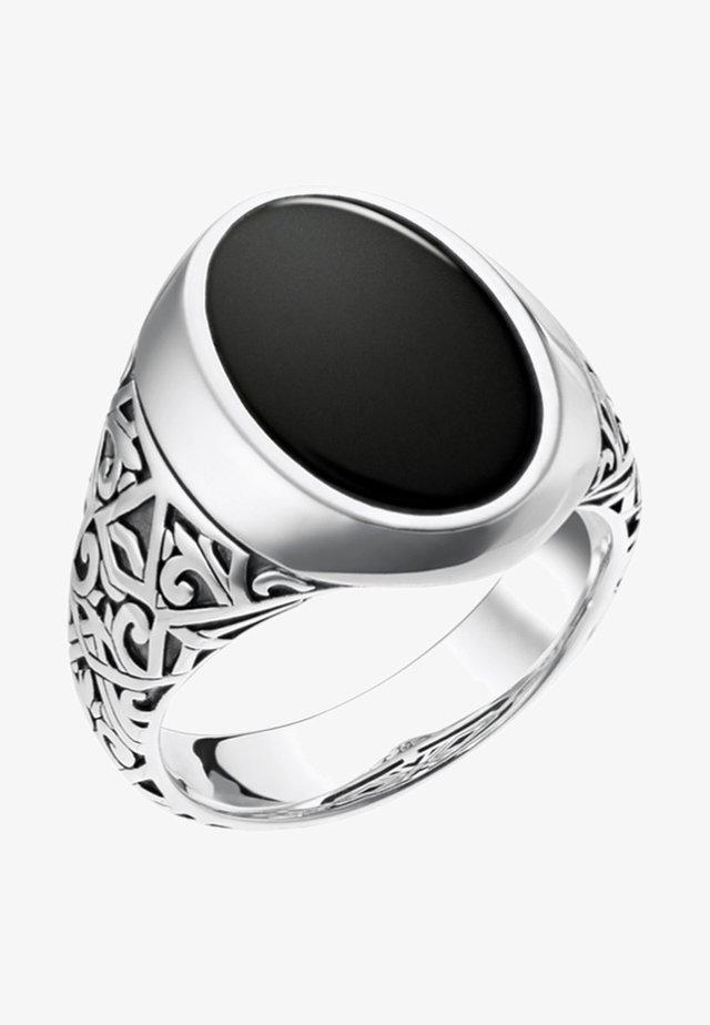 Ring - silver/black