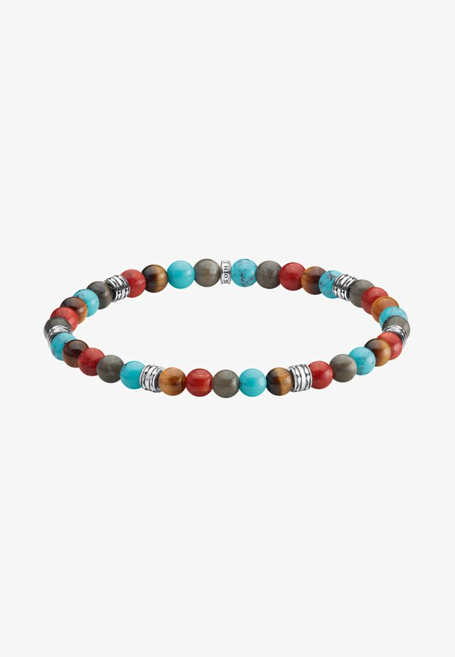 TALISMAN - Bracelet - turquoise/grey/red/silver/brown