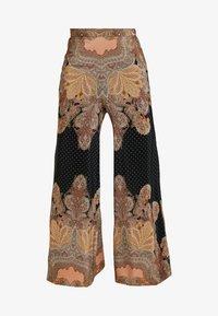 Thurley - MAGIC PALAZZO PANT - Trousers - black/arabian nights - 4