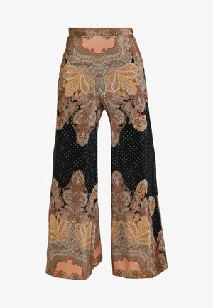 MAGIC PALAZZO PANT - Pantaloni - black/arabian nights