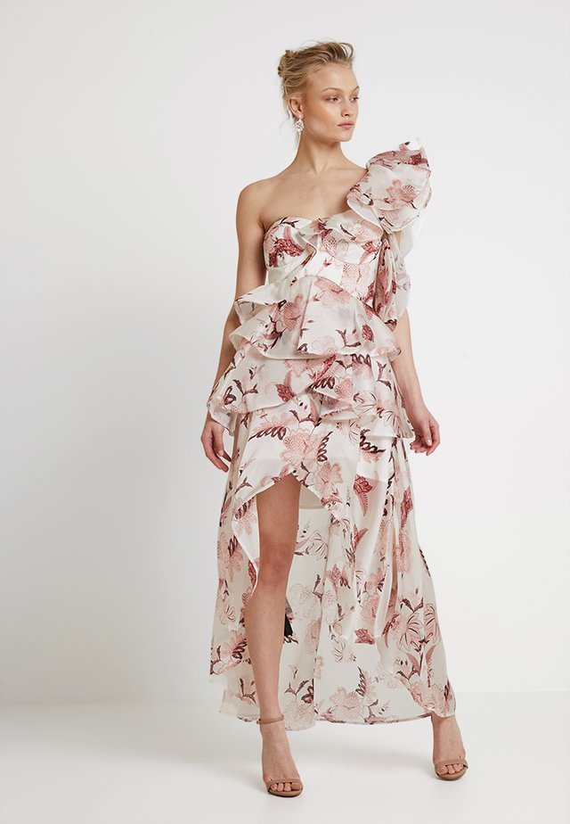 FOLKLORE PRINT FRILL DRESS - Cocktail dress / Party dress - ivory
